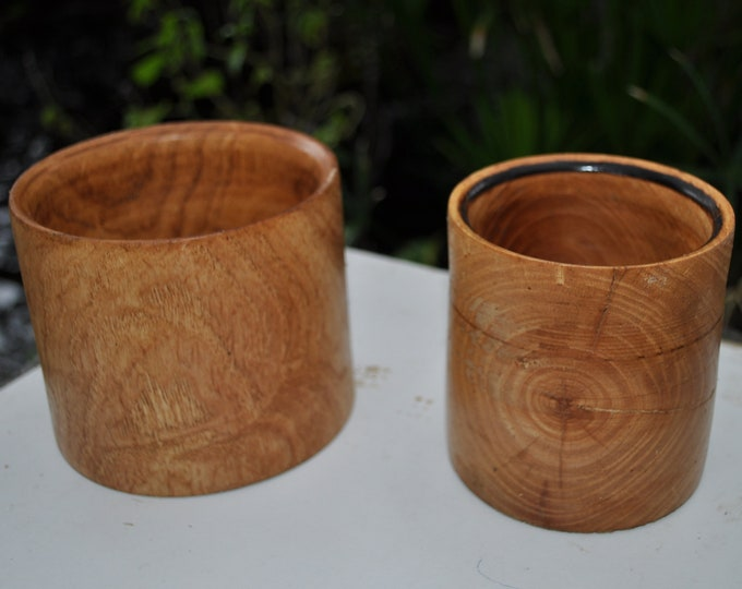 2 Elm  small bowls/ash trays pencil holders