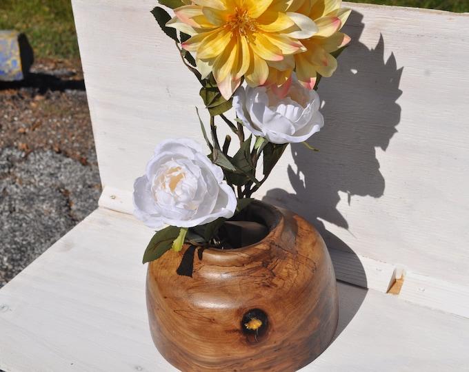 Spalted hardwood Vase  bowl  CrazyBearUSA