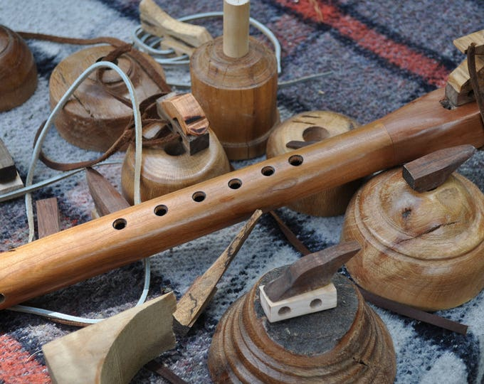 Native American style Flute style  G Cherry Tineo wood  by Crazy Bear CBF