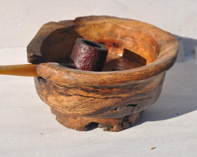 Pipe ashtray oak burl