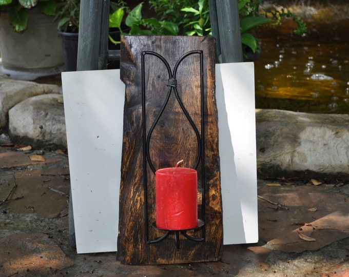 Hanging Oak Metal candle holder by CrazybearUSA
