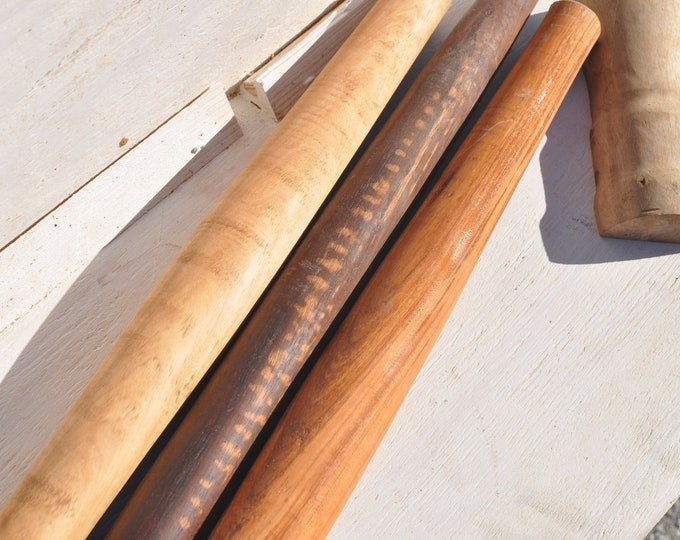 """French rolling pins, 16"""" to 28"""" maple, cherry, walnut, CrazyBearUSA"""