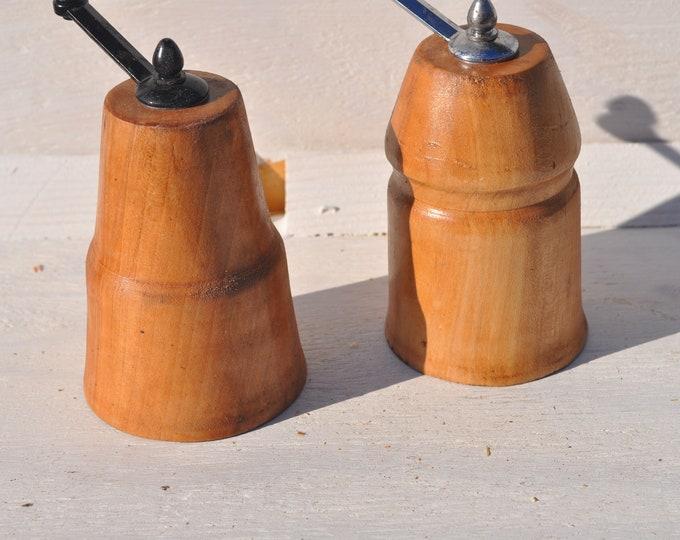 Salt/pepper grinders, maple,CrazyBearUSA
