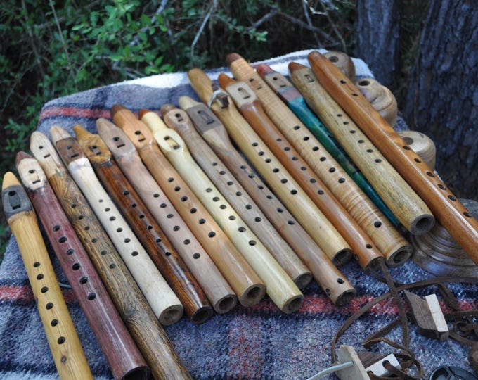 Hard & Soft wood Native American style flutes