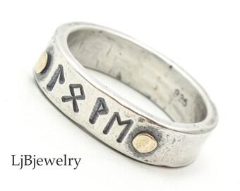 Personalized Rune Ring LjBjewelry Handmade Norse Ring Norse Mythology Viking Rune Ring Silver Celtic Ring Viking Jewerlry