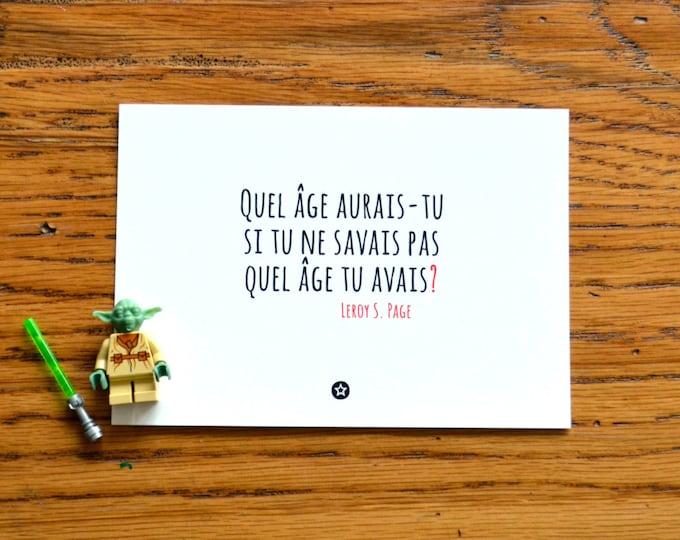 Card Quel Age Aurais-Tu in French
