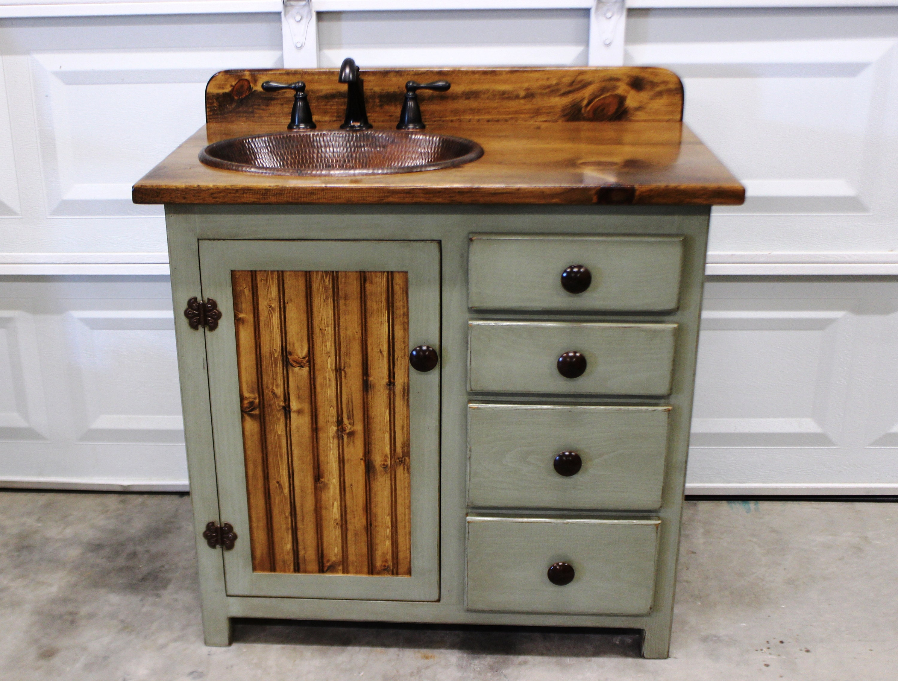 Bathroom Vanity - 36 - Rustic Farmhouse Bathroom Vanity ... on Rustic Farmhouse Bathroom  id=31345