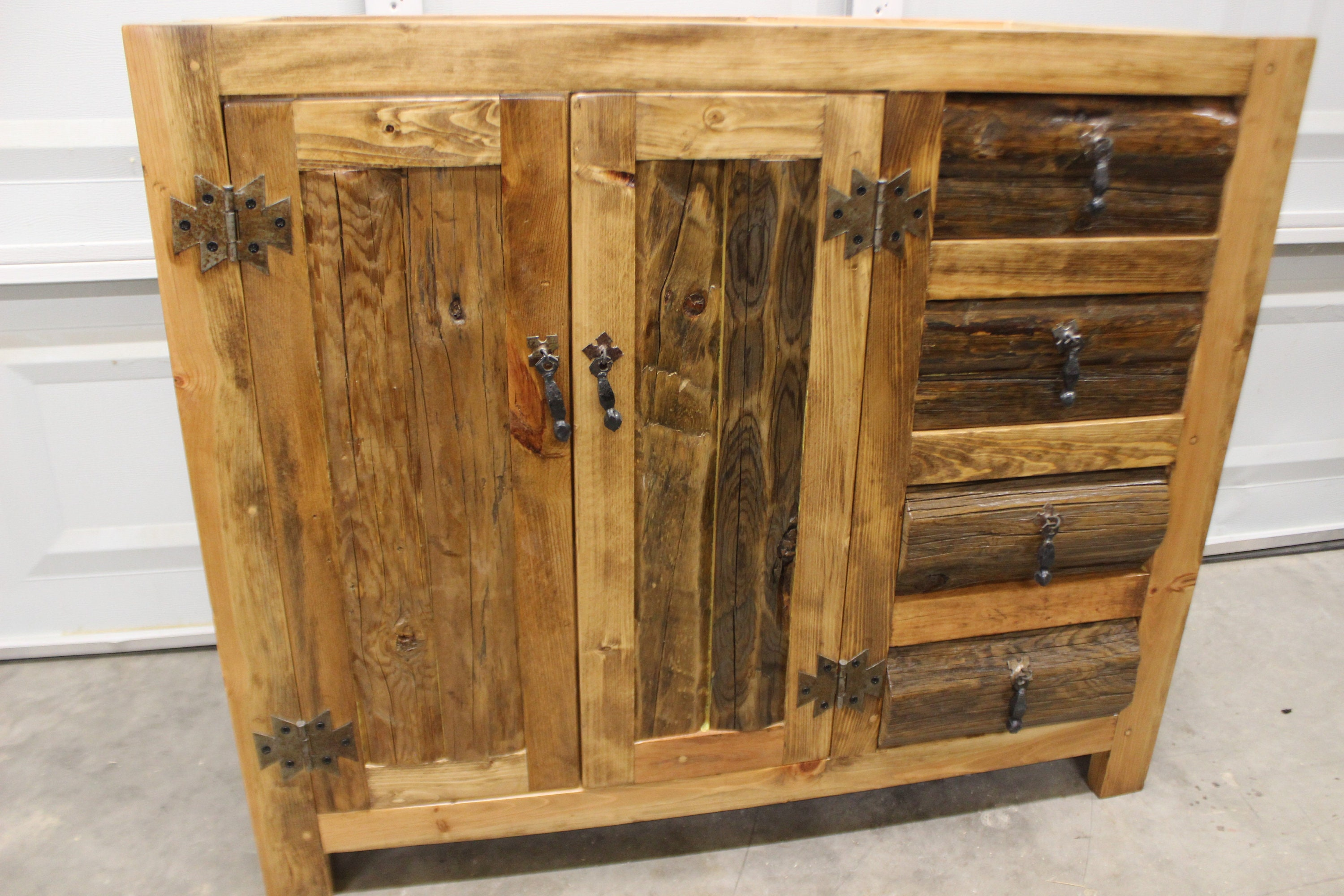 RUSTIC BATHROOM VANITY - Without a Top - 39 wide - Rustic ...