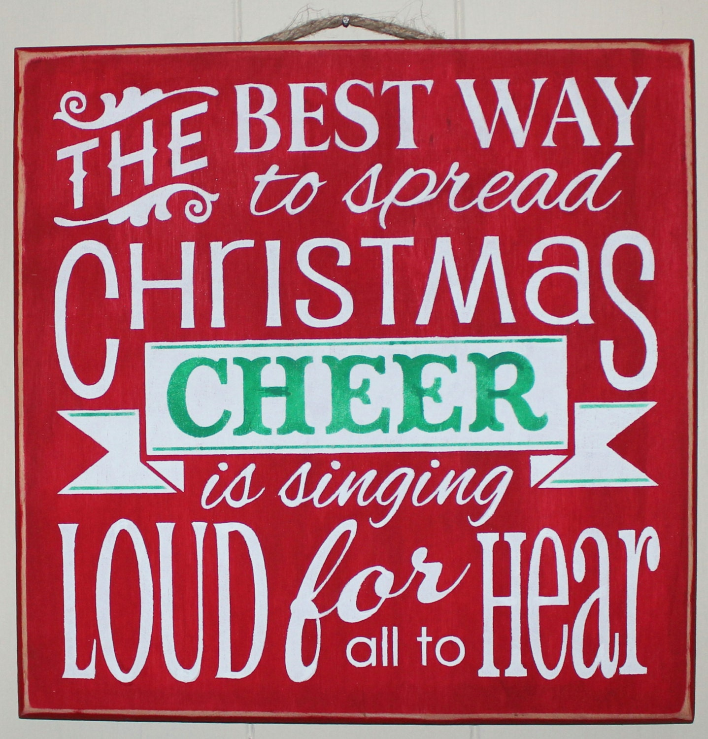 Wooden Christmas Sign The ELF MOVIE The Best Way To Spread