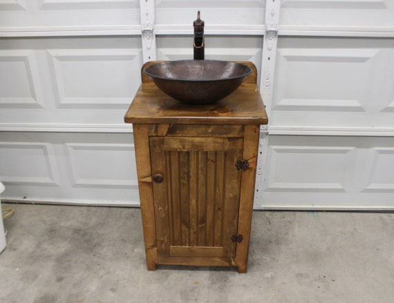 Bathroom Vanity Our Smallest 22 Wide Rustic Etsy