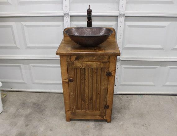 """Bathroom Vanity - Our Smallest! - 22"""" wide - Rustic Farmhouse Bathroom Vanity - FH1296-22 - Bathroom Vanity with sink - Rustic Vanity - Pump"""