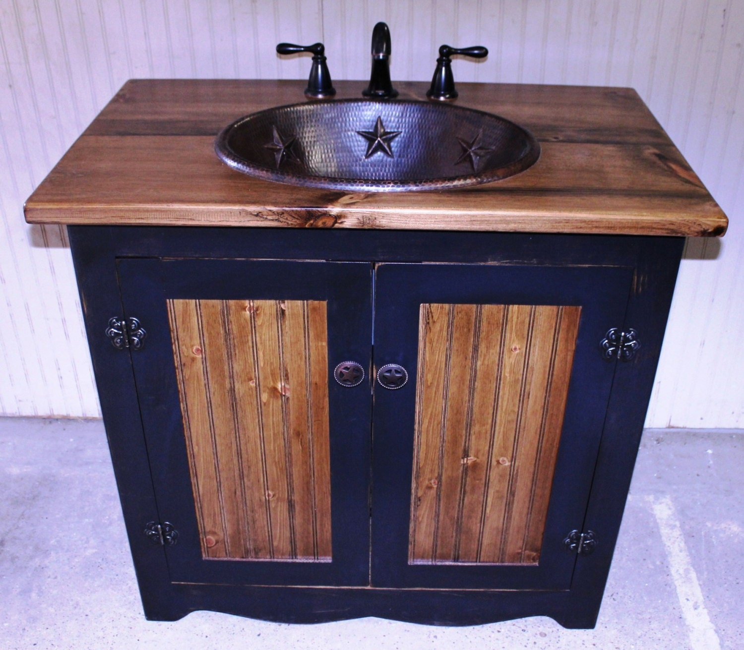 Bathroom Vanity Fh1296 36 Rustic Farmhouse Bathroom Vanity 36 Black Bathroom Vanity With Sink Copper Sink Bathroom Vanities