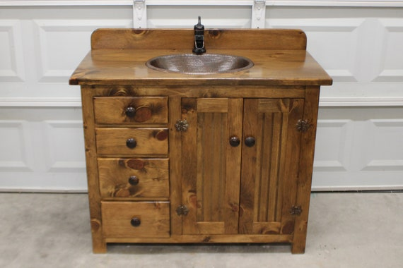 Rustic Bathroom Vanity - 42\