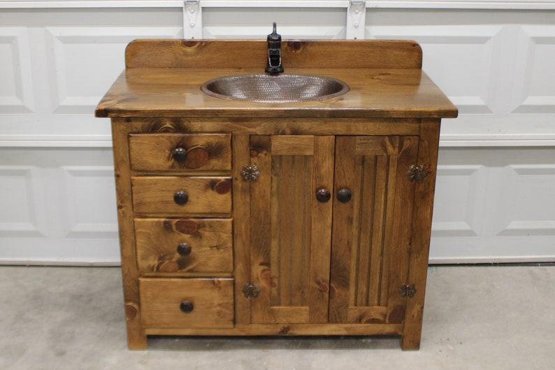 Rustic Bathroom Vanity - Farmhouse Bathroom Vanity - 42\