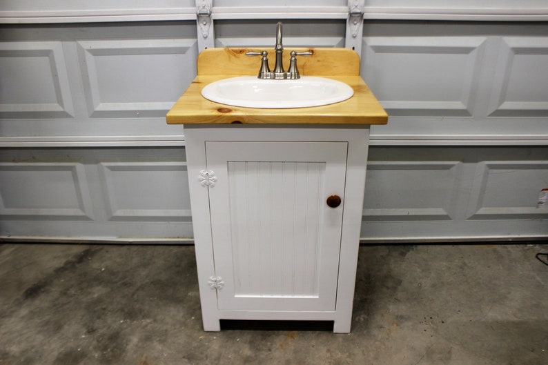 Phenomenal Bathroom Vanity 25 Wide Farmhouse Bathroom Vanity Bathroom Vanity With Sink Bathroom Vanities Natural Wood Top White Sink Home Interior And Landscaping Mentranervesignezvosmurscom
