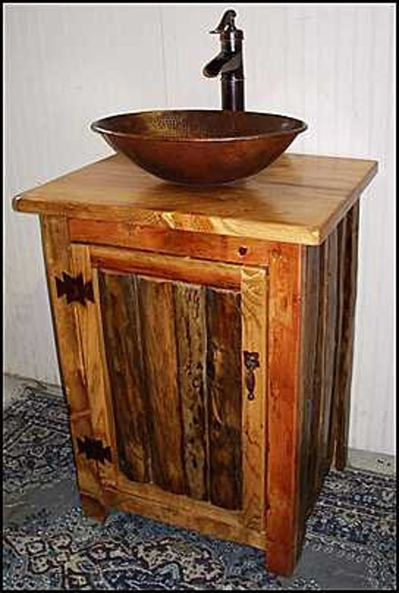 Rustic LOG Bathroom Vanity MS1373 25 Pump Faucet | Etsy