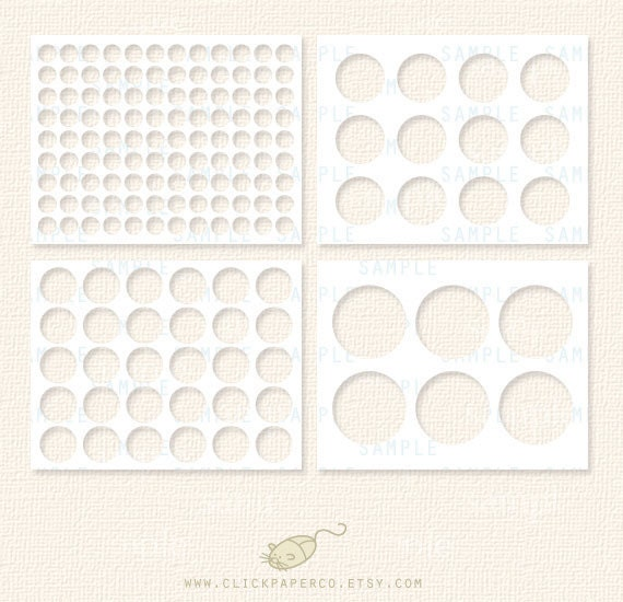 Circle Template Rounds Multi Size Value Pack 75 1 1 5 2 Inch Etsy