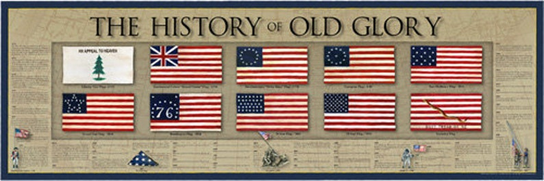 history of old glory united states usa flag old glory poster image 0