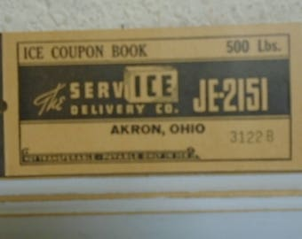 1930's 500 Point Ice Coupon Book / Never Used /