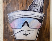 Colada Bro, 6.5x5.5 inches, Coffee Wall Art, Print on Wood, House Warming Gift, Wall Decor, Father 39 s Day Gift