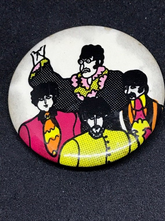 The Beatles Yellow Submarine Original Button Etsy