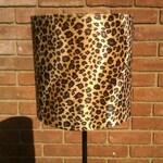 "8"" / 20cm Width Handmade Caramel Baby Leopard Faux Fur Drum Lamp shade"