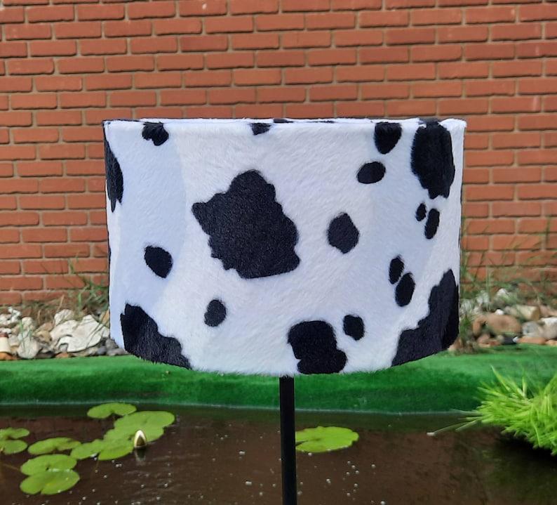 25cm W x 15 H cm Handmade Black & White Cow Animal Print Faux image 0