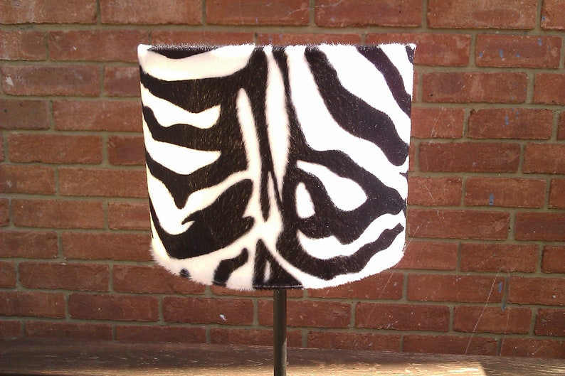 20cm Black and White Adult Zebra animal Print faux fur image 0