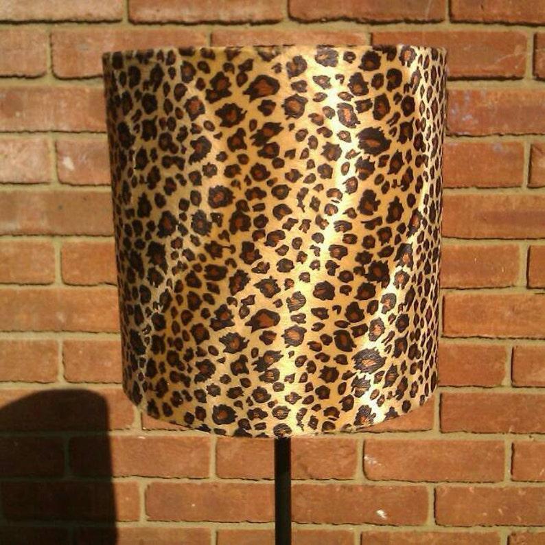 20cm Width Handmade Caramel Baby Leopard Animal Print Faux Fur image 0