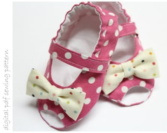 Baby Shoe Pattern - Peep Toe - Sizes 1 to 5