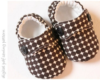Baby Shoe Pattern - Little Man Shoes - Sizes 1 to 5