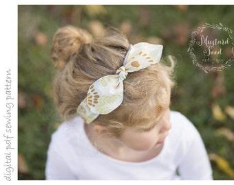 Headband - Sizes 0-3mo to 3+yrs - digital pdf sewing pattern