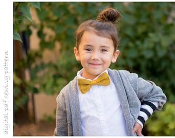 Bow Tie - Sizes 0-3mo to 5+yrs - digital pdf sewing pattern