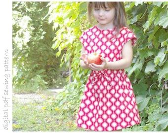 Rose Dress - Sizes 2 to 10 - digital pdf sewing pattern