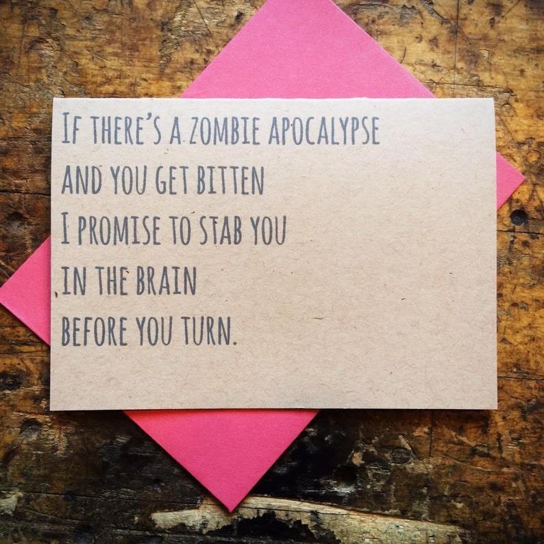 Funny Valentine's Zombie Promise Love image 0