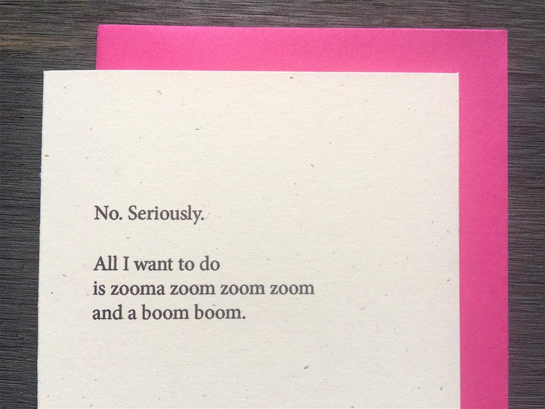 All I want to do is zoom boom Funny Valentine's Love image 0