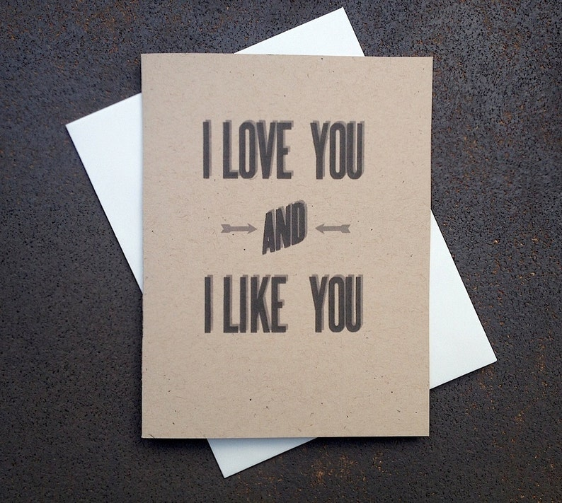 Funny Valentine's Love Anniversary Rustic Modern Card image 0