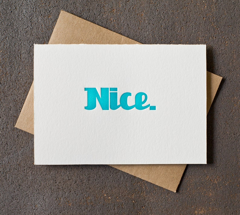 Letterpress Graduation Congratulations Card  Nice image 0