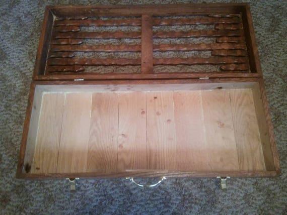 Vintage Wood Storage Box Board Game Storage Vintage Etsy