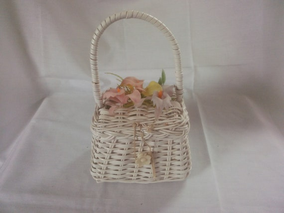 Vintage White Wicker Purse  - Purse - Children's P
