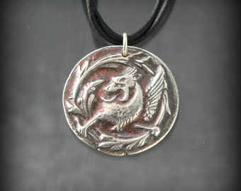 Game of Thrones inspired Fine Silver Valar Morghulis necklace