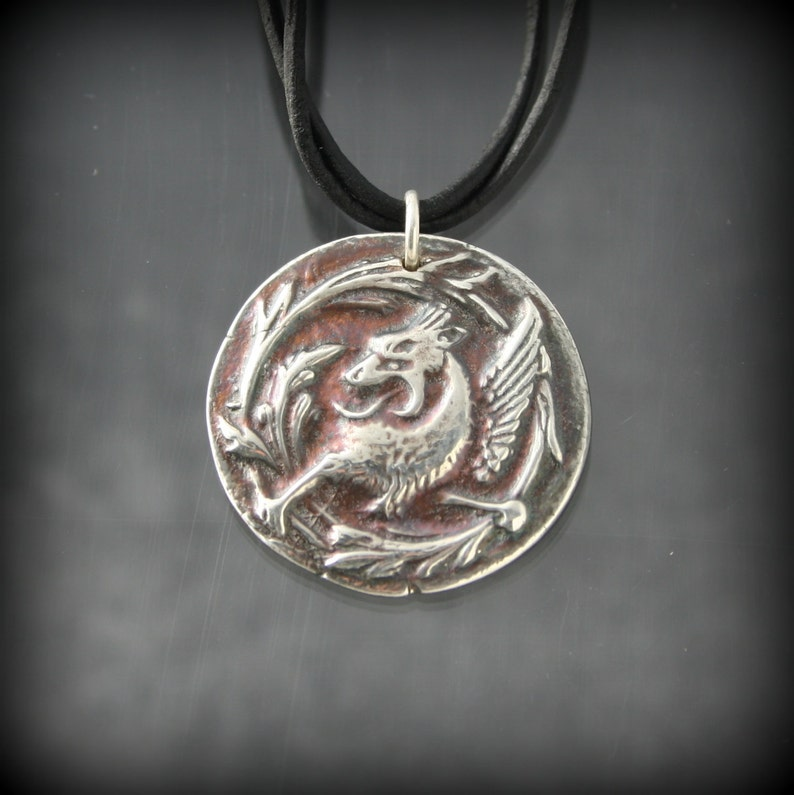 Game of Thrones inspired Fine Silver Valar Morghulis necklace image 0