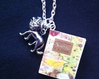 Narnia Mini Book Necklace With Charm