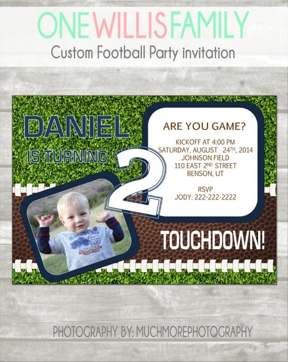 Invitación De Cumpleaños De Fútbol Tarjeta De Cumpleaños Personalizada De 5 X 7 Foto Tarjeta Invitación Tarjeta Personalizada