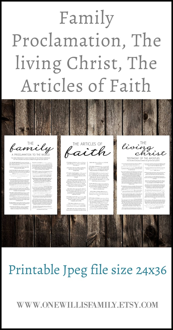 graphic about Family Proclamation Printable named Loved ones Proclamation, Residing Christ, Material of Religion