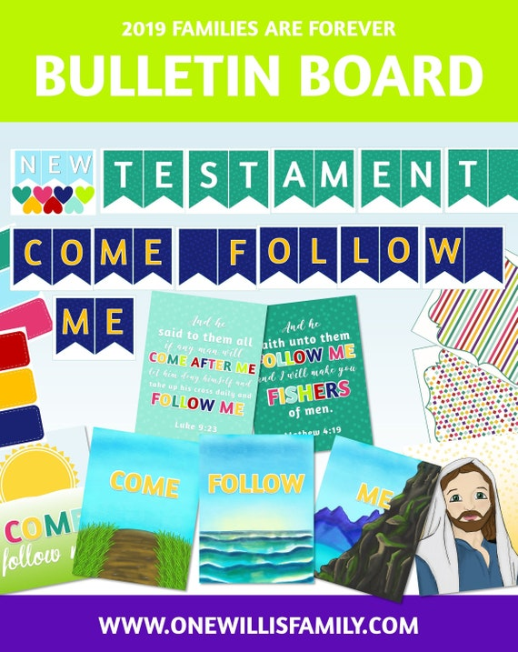 2019 Primary Bulletin Board Printables: Come Follow Me, New