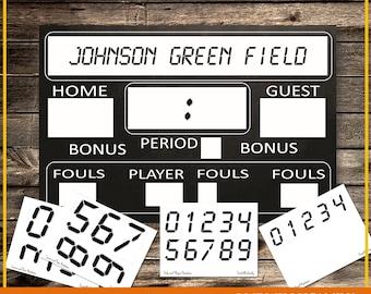 Interactive Printable Scoreboard 24x36, Digital, INSTANT DOWNLOAD