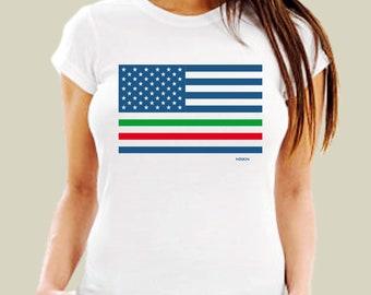 e938c00b3 MEXICAN AMERICAN FLAG shirt