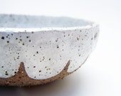 Pottery Bowl - Stoneware - Speckled - Scalloped Bowl - Serving Bowl - Handmade Ceramics - MADE TO ORDER