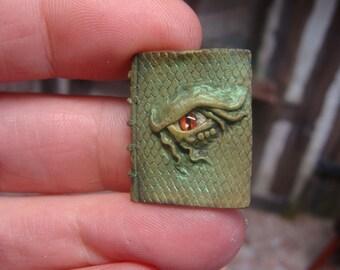 dragon eye book -  dollshouse miniature  - 12th scale